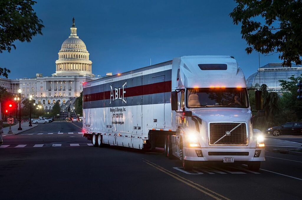 Able Moving & Storage truck in dc